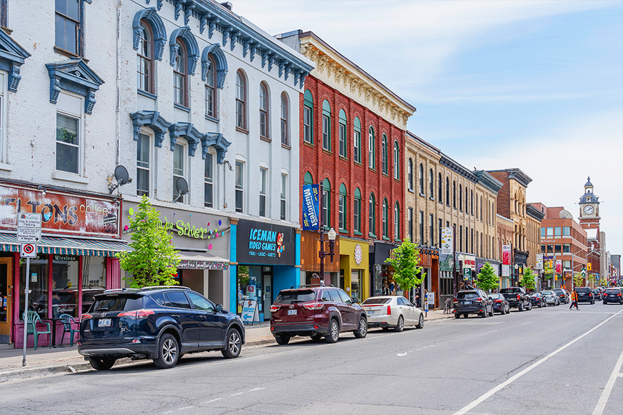 Picture of downtown Peterborough shops