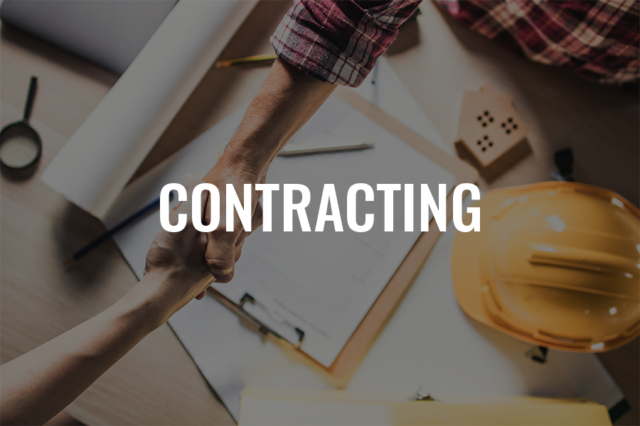 Picture of contractor shaking hand